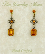 Vintage Victorian Style Austrian Crystal Fashion Earrings